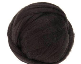 SALE Merino / Silk  Roving, (Coffee)