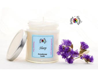 Sleep Candle | Insomnia Candles | Natural Soy Candles | Lavender candle | Jar Candle
