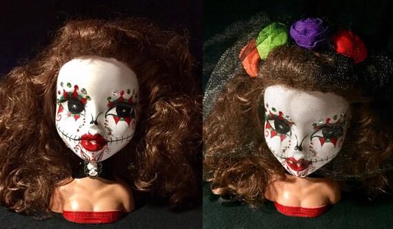 Bratz Bust Original Sugar Skull Day Of The Dead Dia De Los Muertos Undead Biohazard Bust