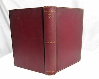 Representative Men Seven Lectures, Ralph Waldo Emerson, Henry Altemus Philadelphia 1894, Hardcover Book, Plato Montaigne Shakspeare Goethe
