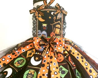 Baby Halloween Tutu Set Perfect for Halloween, pageant, outfit of choice, baby shower, photo shoot  size 6 mo - slim 18 mos.