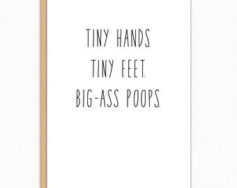 Pregnancy Card Funny. Pregnancy Card Congratulations. New Baby Card. Baby Shower Card. Pregnancy Congrats. Big Ass Poops