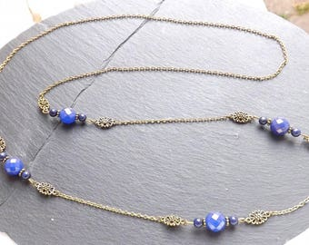 """Night"" lapis lazuli necklace"