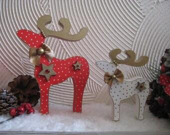 christmas ornaments freestanding reindeer set