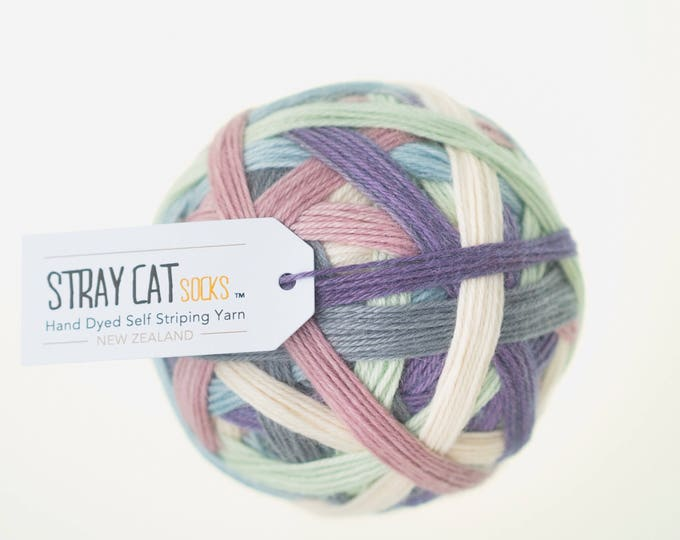 Dhanya (thankful) - vibrant hand dyed self striping sock yarn