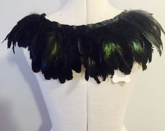 Oatrich Feather capelet