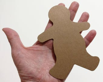 Gingerbread Men, 12 Extra Large Kraft Gingerbread Man, 5 Inch Die Cut Gingerbread Man, Christmas Die Cuts, Christmas Cookie Die Cuts