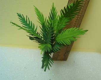 Dollhouse Miniature Fern Palm,  6 inches