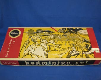 WILSON BADMINTON SET Vintage Set Complete in Original Box