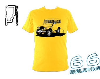 Toyota Land Cruiser 40 Series PERSONALISED T-Shirts by AutoRenders - 66 Colours - S/M/L/XL/2XL/3XL* - Unisex - Shirt & Car Colour Match!