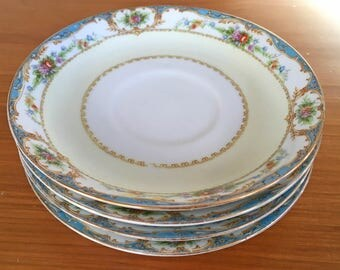 Regal China Bienville Saucers - Set of 4