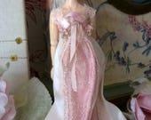 Dollhouse wearable Silk WeddingBall Empire line Gown for all 112th scale dolls inc Heidi Ott