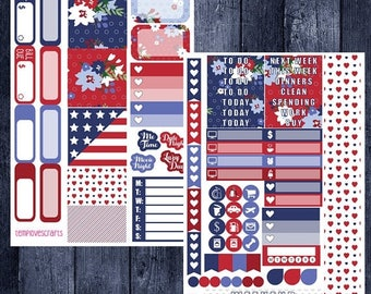 On Sale Independence Day Kit for Personal Planner