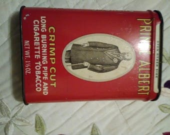 Prince Albert Crimp Cut long burning pipe and cigarette tobacco. Full can. If you are interested in this please make an offer