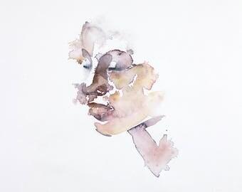 dissolve . original watercolor painting