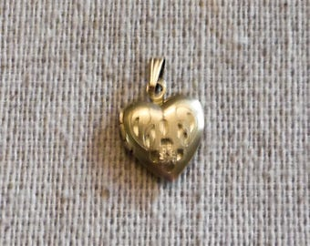 Child's Gold Filled Heart Locket