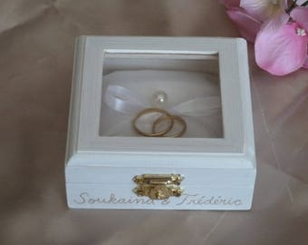Wedding Ring Box Ring Bearer Pillow Box White Ring Pillow Traditional and Elegant Wedding Pillow