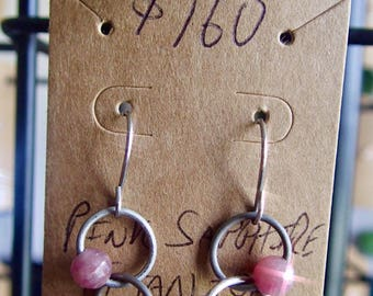 Pink Sapphire Titanium Metaphysical Earrings