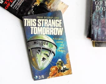 This Strange Tomorrow by Frank Belknap Long (1966, Brown, Watson Ltd) Vintage Science Fiction Paperback Book 1st Print