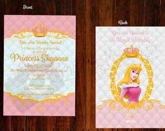 Elegant Disney Princess Themed Invitations Part 1