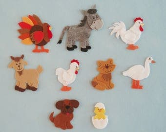 Felt Farm Animals for Felt/Flannel Board/Old McDonald Song/Farm Theme/Teaching Resource/