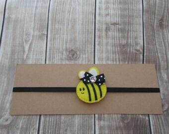 Bee Headband, Girls Headband, Toddler Headband, Infant Headband, Elastic Headband