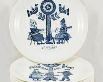 Six vintage Dutch breakfast plates Royal Sphinx Maestricht