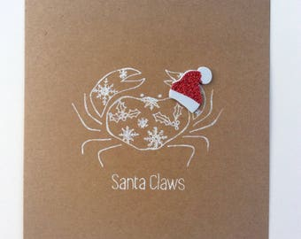 Santa Claws Crab Card