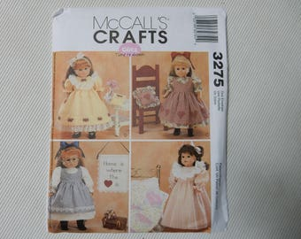 "McCall's 3275 Vintage Clothing for 18"" Doll"