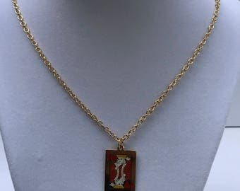 Vintage King of hearts pendant necklace
