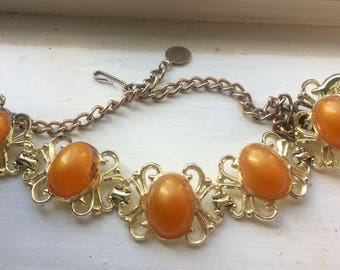 Vintage tangerine bracelet
