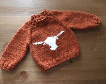 Go Horns Sweater ***READY TO SHIP***