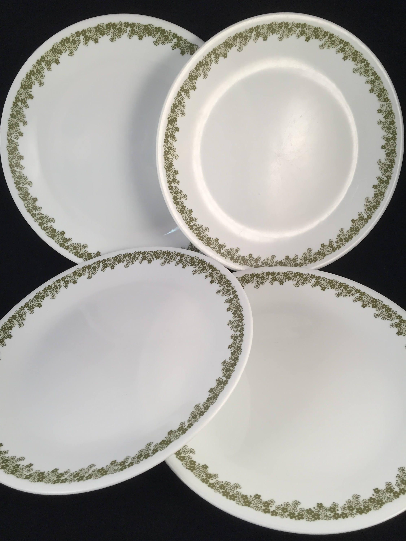 4 Dinner Plates Crazy Daisy/Spring Blossom 10-1/4  & 4 Dinner Plates Crazy Daisy/Spring Blossom 10-1/4 Vintage 1970u0027s ...