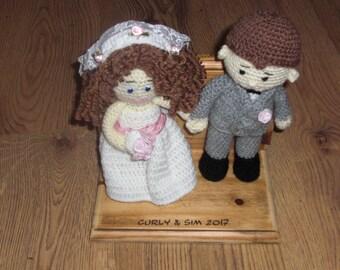 Personalised Hand crochet Bride & Groom