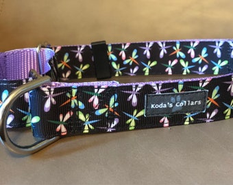 "1"" Dragonflies Martingale Collar"