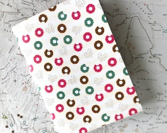 Small notebook //Donuts! // cute food  // 48 lined pages