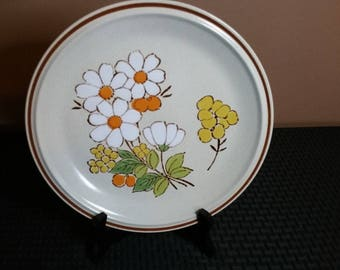 Set of 4 Floral Expressions Hearthside Summertime Stoneware Dinner Plates