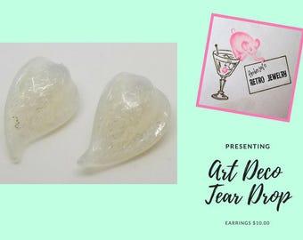 Art Deco Tear Drop Earrings