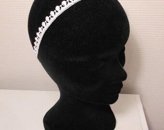 Bridal ivory lace headband