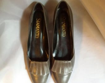 SHOP CLOSING 70% OFF Vintage loafers Gray leather loafers Siamanto loafers casual shoes size 8n