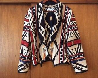 Vintage Women's Kokopelli New Mexico Collection Southwestern Tapestry Jacket M