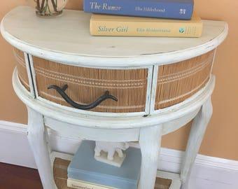 Antique Cottage Half Table