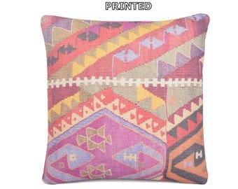 navajo kilim pillow 20x20 tribal tapestry 20x20 cushion cover kilim floor pillow rug pillow bohemian throw pillow turkish throw pillow 14-50