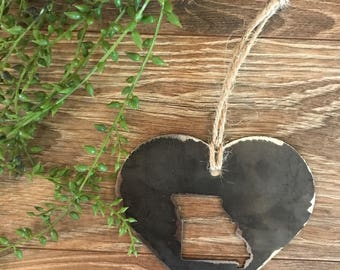 State steel heart ornament