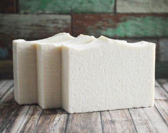 Freshmint Sea Salt Soap | Palm Free Zinc Soap, Calamine Soap Bar, Handmade Salt Bar, Cold Process Essential Oil Soap, Homemade Vegan Soap