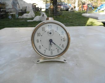 French vintage JAZ alarm clock in full working order circa 1950's