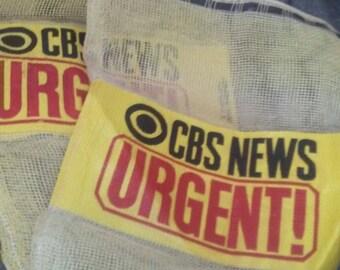 CBS News Onion Mesh Tape/Film Bag RARE