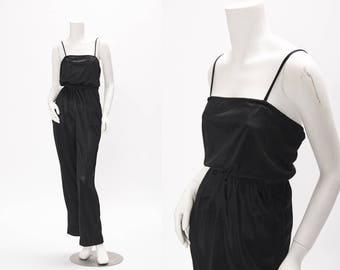 black jumpsuit vintage 1970s • Revival Vintage Boutique