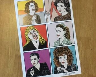 Women of Twin Peaks A3 Print