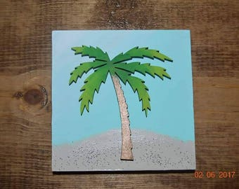 READY to ship palm tree mini sign, sign